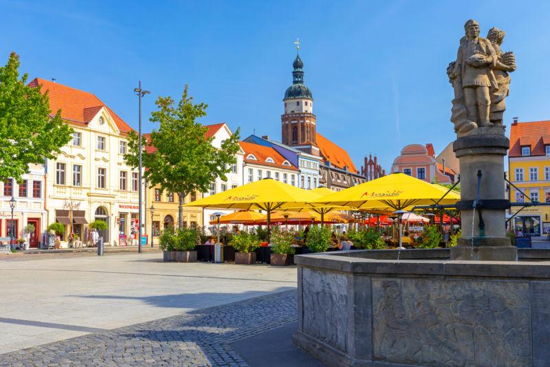 Der Altmarkt in Cottbus